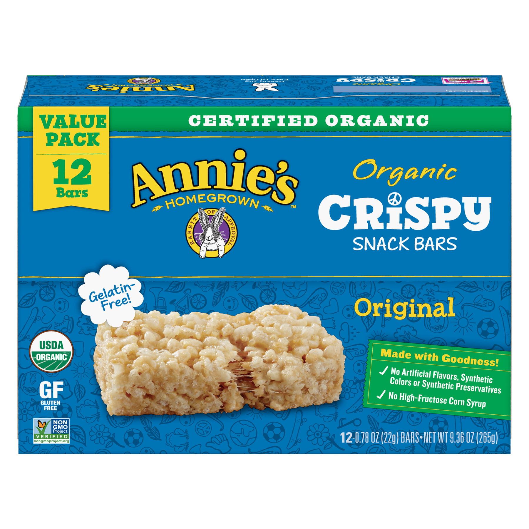 Annie's Organic Crispy Snack Bars Original Value Pack, 12 ct, 9.36 oz