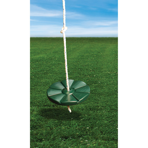 Gorilla Playsets Green Disc Swing with Rope