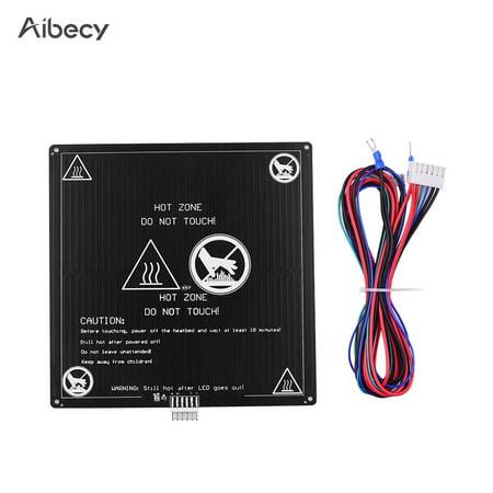 Lit chauffé en aluminium 12V Hotbed 220 * 220 * 3mm d'Aibecy avec le kit de plate-forme de lit chauffant en câble métallique pour Anet A8 A6 pièces d'imprimante 3D - image 1 de 4