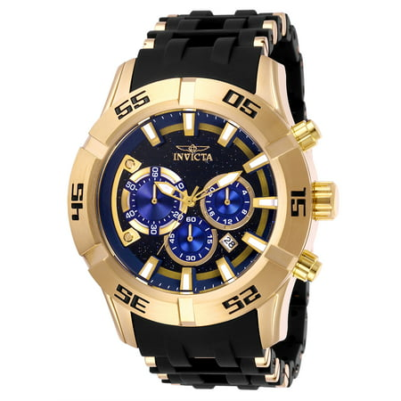 Men's 26538 Sea Spider Quartz Chronograph Blue Dial Watch Diamond Strap Chronograph Blue Dial