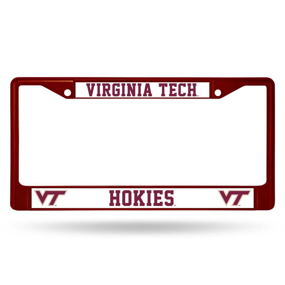 Virginia Tech Hokies Metal License Plate Frame - Maroon