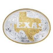 Montana Silversmiths Western Belt Buckle Adult Texas Silver Gold 5630