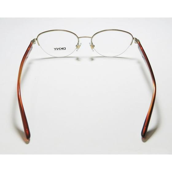 2dab559152 New Dkny 5644 Womens Ladies Cat Eye Half-Rim Matte Silver   Purple Authentic  Must Have Fashionable Hip Frame Demo Lenses 53-17-135 Eyeglasses Eyeglass  Frame ...