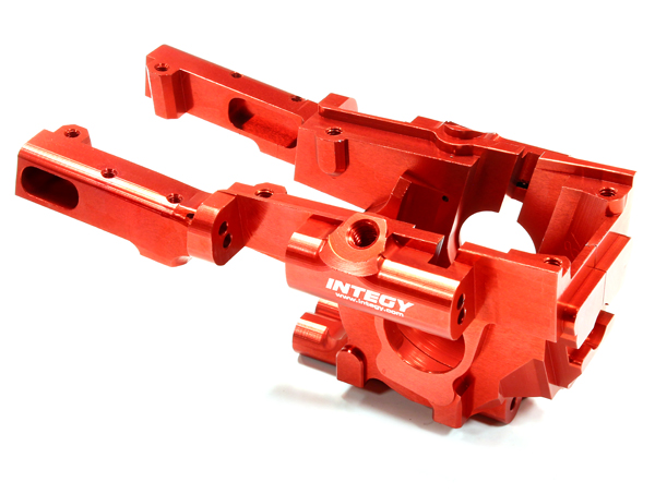 Integy RC Toy Model Hop-ups T3295RED Billet Machined Front Bulkhead for 1 10 Traxxas... by Integy