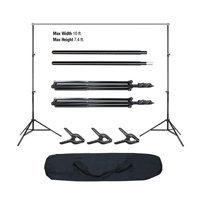 Ktaxon 10x6.5ft Adjustable Background Support Stand Photo Studio Backdrop Crossbar Set