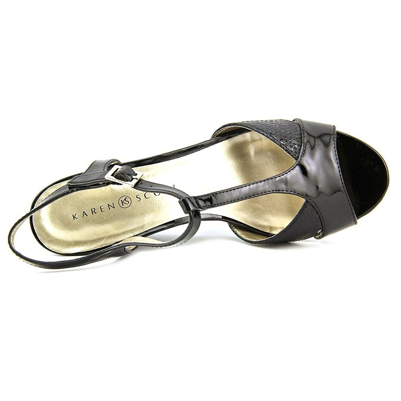 Karen Scott Women's Sabinaa Wedge Sandals (6 B(M) US, Black)