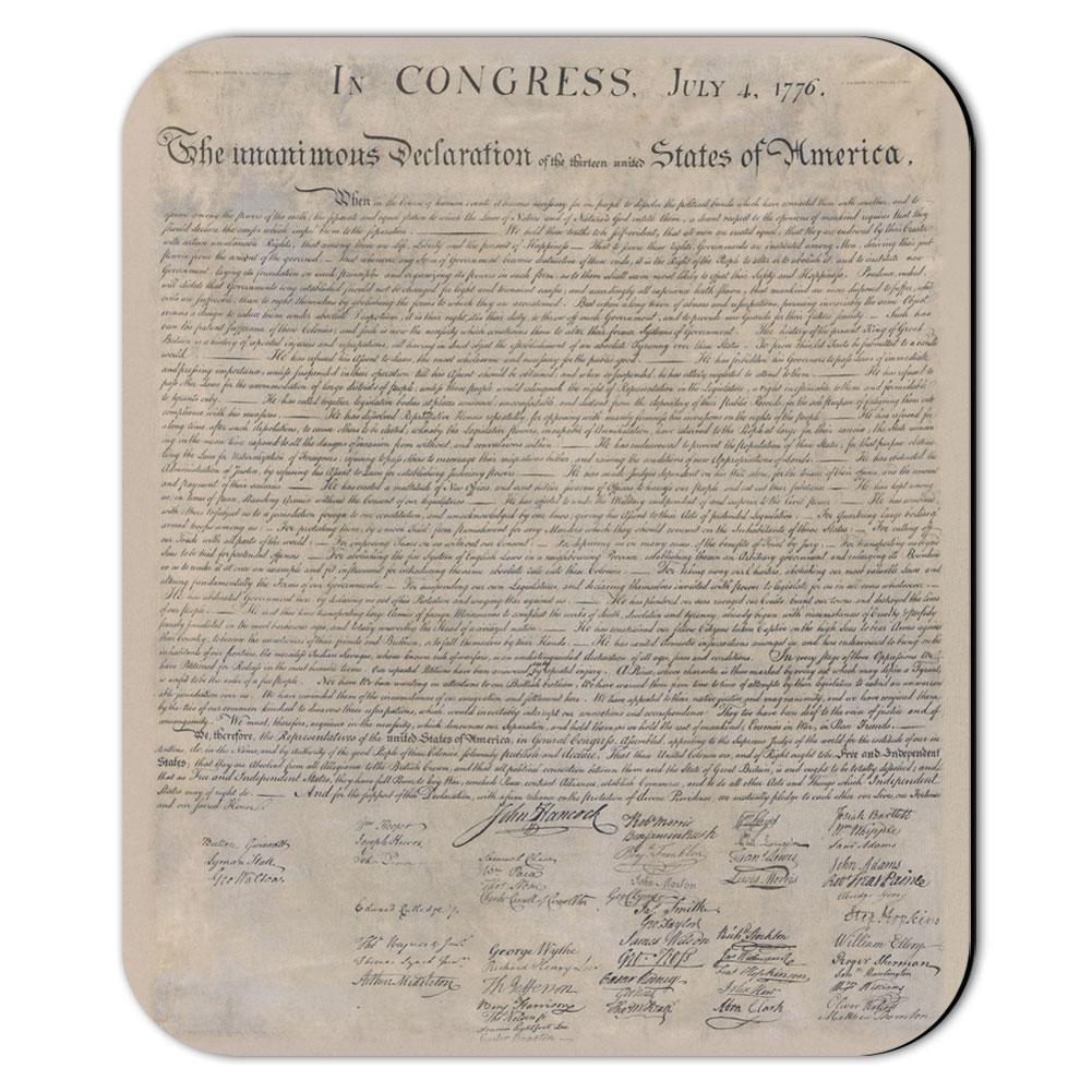 United States Declaration of Independence Mouse Pad