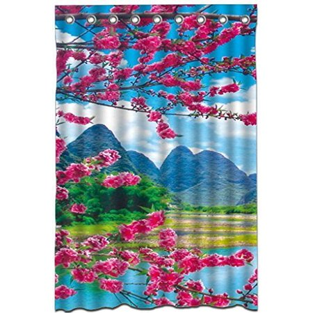 MOHome Unique Cool Fun Funky Shower Curtain Waterproof Polyester Fabric Size 48x72 Inches