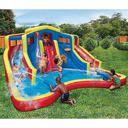 Banzai Adventure Club Water Park | 15'L x 15'W x 8'H Inflatable Waterslide by
