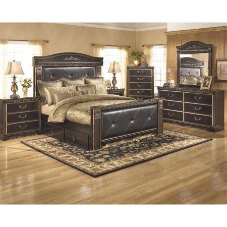 Ashley Coal Creek 6 Piece Queen Drawer Bedroom Set in Dark Brown ...