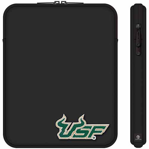 "Centon 10"" Classic Black Tablet Sleeve University of South Florida"