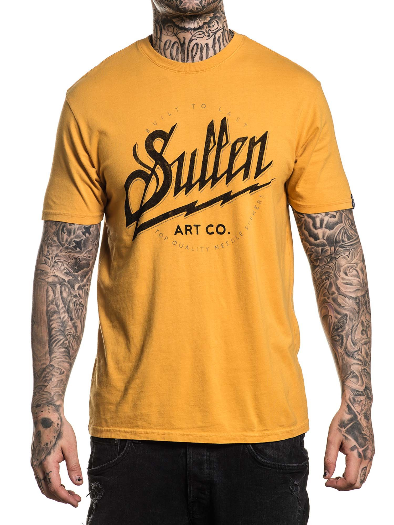 Sullen Mens Trade Made Short Sleeve T Shirt Charcoal Wash