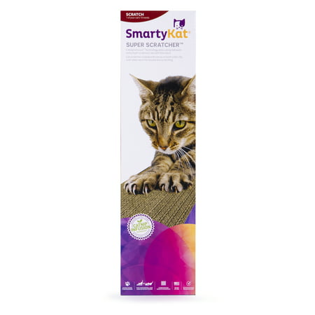 SmartyKat® Super Scratcher® Single Wide Corrugate Cat Scratcher with Infused - Horizontal Scratcher