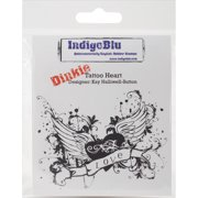 "IndigoBlu Cling Mounted Stamp 4""X3""-Tattoo Heart"