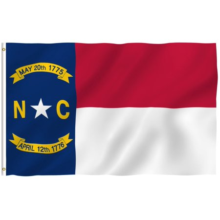 G128 North Carolina State Flag 150D Quality Polyester 3x5 ft Printed Brass Grommets Flag Indoor/Outdoor - Much Thicker and More Durable than 100D and 75D Polyester - North Carolina Outdoor State Flag