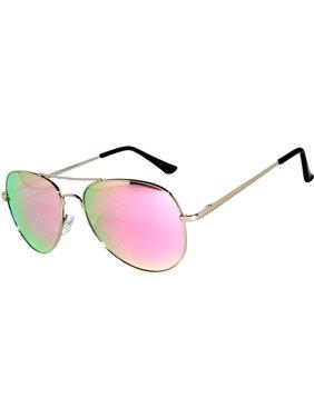 f462751ada Product Image OWL ® Eyewear Sunglasses 065 C2 Women s Men s Aviator Metal  Frame Pink Yellow Mirror Lens
