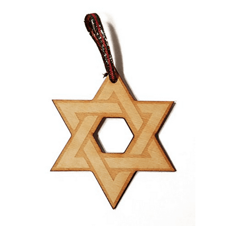 Star of David Hanukkah Jewish Laser Engraved Wooden Christmas Tree Ornament Gift Seasonal Decoration - Hanukkah Ornaments
