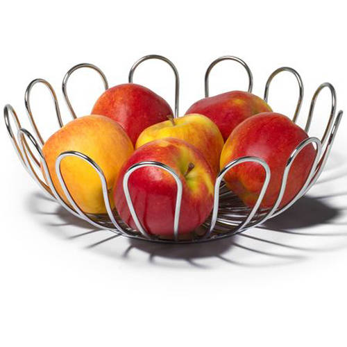 Spectrum Bloom Fruit Bowl, Chrome