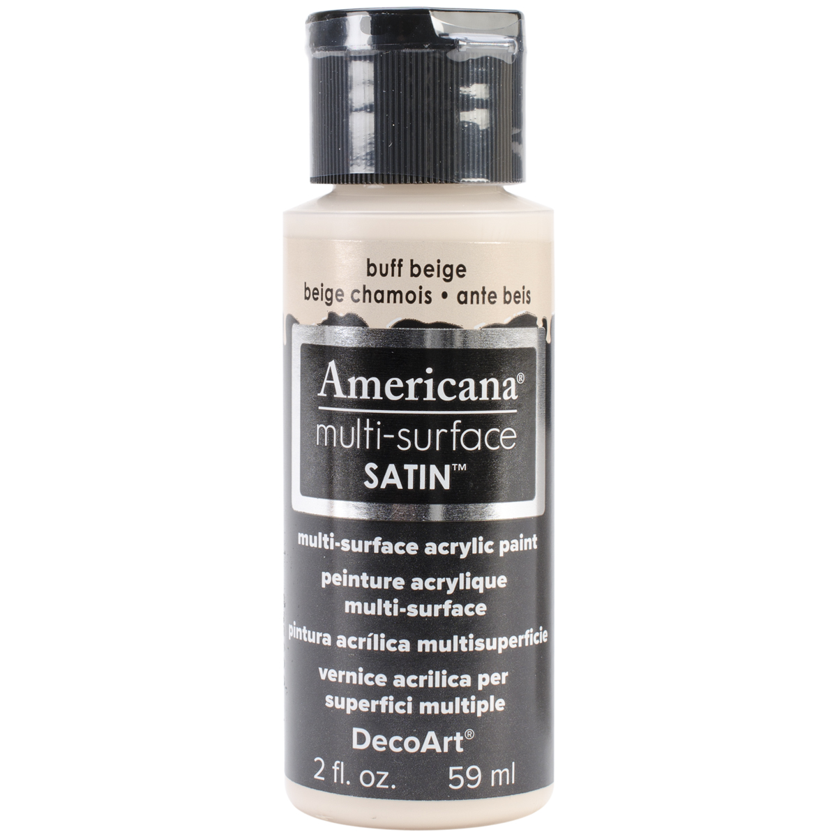 Americana Multi-Surface Satin Acrylic Paint 2oz-Buff Beige