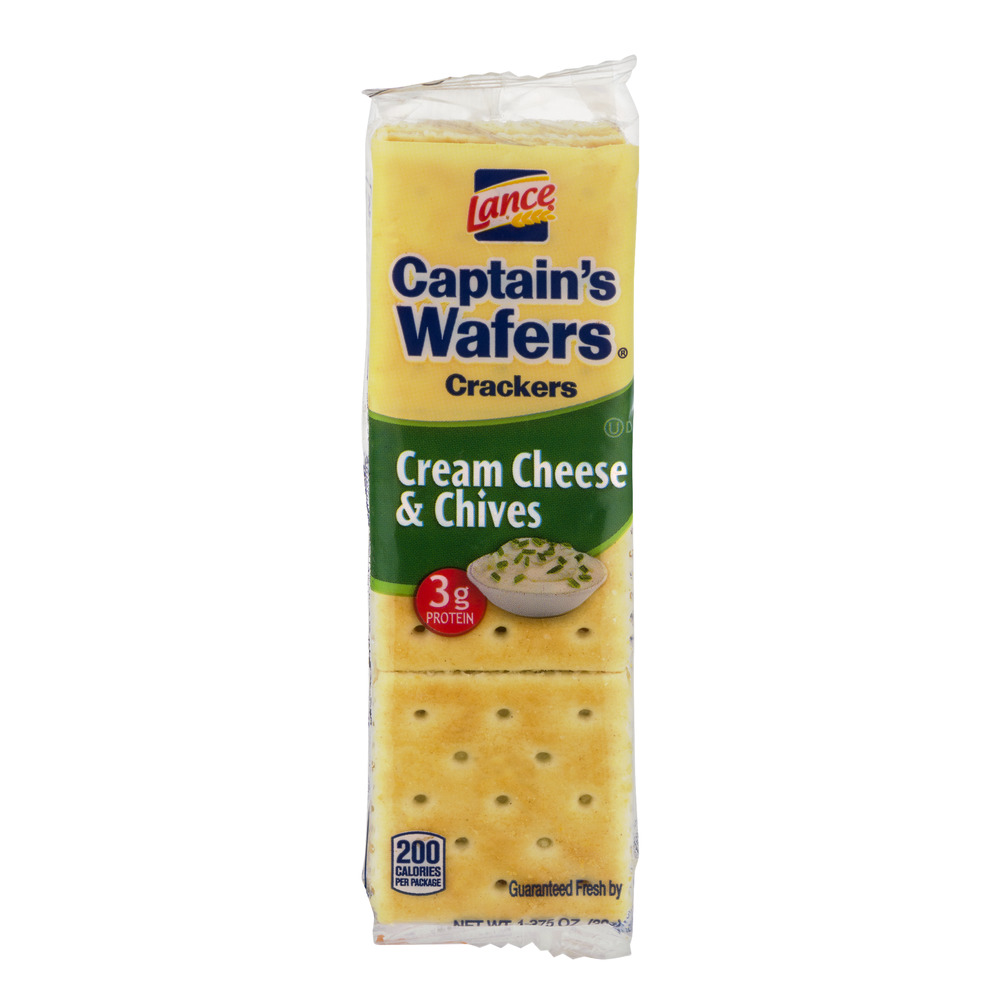 Captain's Wafer Crackers Cream Cheese & Chives, 6.0 CT