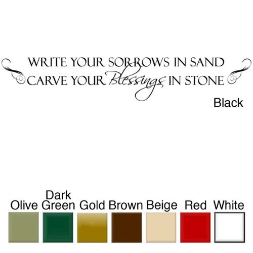 Decal the Walls 'Write Your Sorrows in Sand.....' Vinyl Wall Art Decal