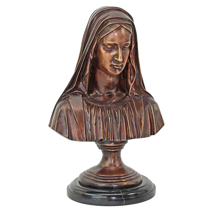 Madonna, the Blessed Mother Cast Bronze Statue