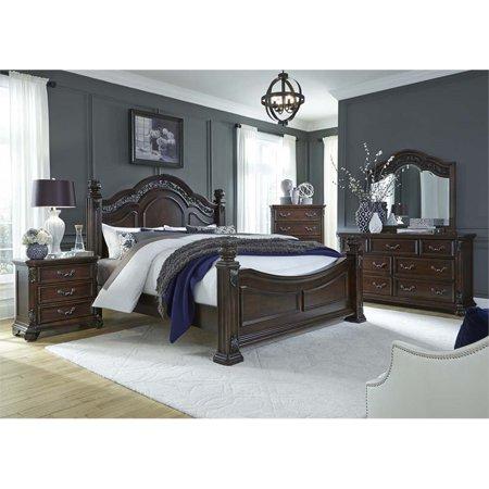 Liberty Furniture Messina Estates 5 Piece King Poster Bedroom Set