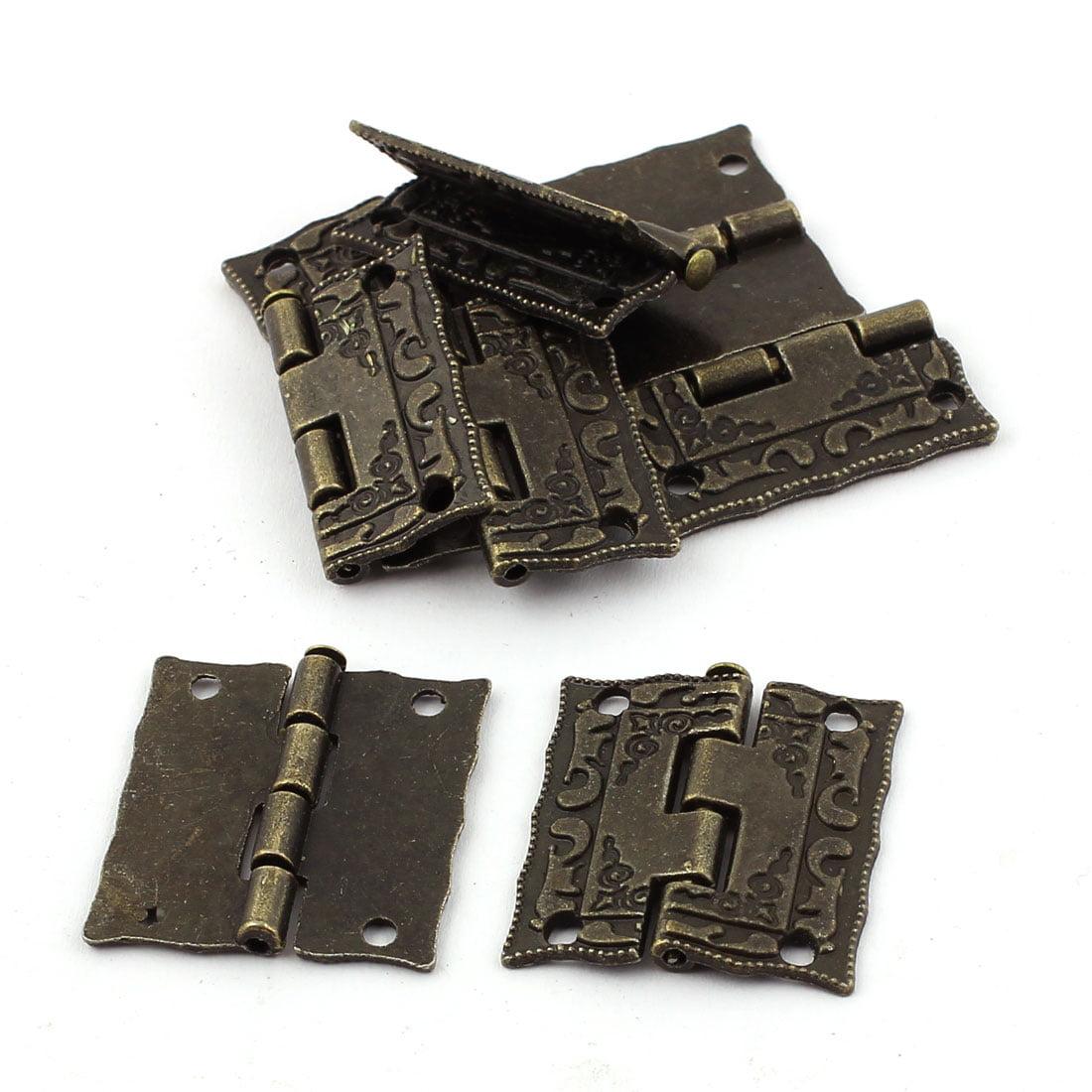 Unique Bargains Retro Style Case Jewelry Box Drawer Cabinet Butt Hinges Bronze Tone 8PCS