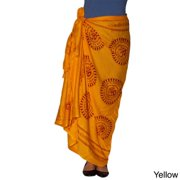Hand-crafted Women's Om Printed Sarong (India) Yellow
