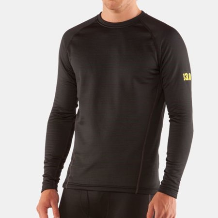 UnderArmour 1281081 Men's Base 3.0 L/S Shirt Black (Herren-sonnenbrille Underarmour)