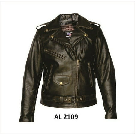 Ladies 2XL Size Retro brown motorcycle Buffalo Leather 3 front zippered pockets Biker Jacket