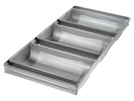 3-Strap Hearth Bread Pan, Chicago Metallic, 44405 by Chicago Metallic