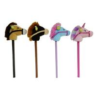 "Spark. Create. Imagine Plush Stick Horse, Assorted, 30"""