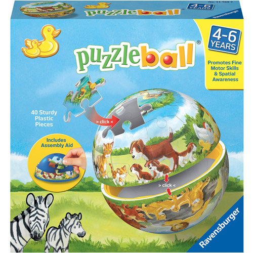 Ravensburger Animals And Their Babies Children'S Puzzleball, 40 Pieces