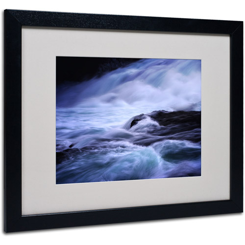 "Trademark Fine Art ""Blue Stream"" Matted Framed Art by Philippe Sainte-Laudy"