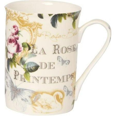 Boston International BOB769760 Rose De Printem Bone China -