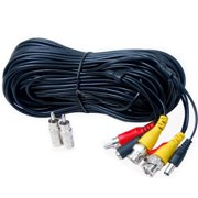 VideoSecu 100ft HD Security Camera Audio Video Power Cable Pre-made All-in-One Extension Wire Cord for AHD HD-CVI HD-TVI Analog Camera with BNC RCA Connectors WUN