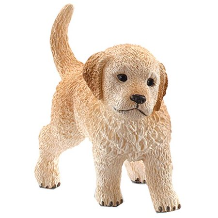16396 Golden Retriever Puppy Figurine, Brown