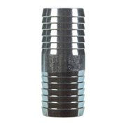 BK Products 1 in. Barb x 1 in. Dia. Barb Galvanized Steel Coupling - Case Of: 1