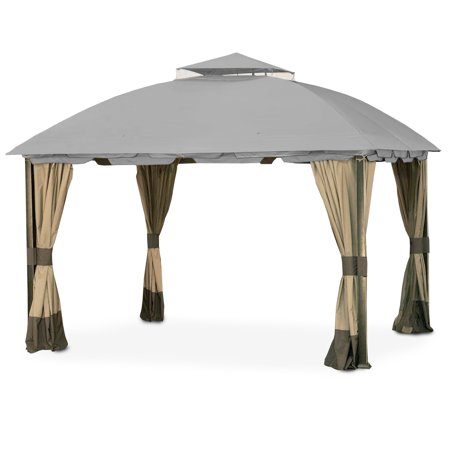 Garden Winds Replacement Canopy Top Cover for the South Hampton Gazebo - Slate Gray