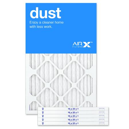 AIRx Dust 16x25x1 MERV 8 Pleated Filter