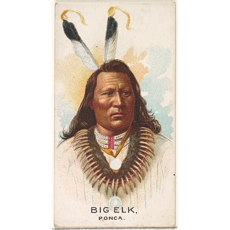 Big Elk Ponca from the American Indian Chiefs series (N2) for Allen & Ginter Cigarettes Brands Poster Print (18 x