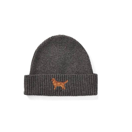 RALPH LAUREN Polo Men's Golden Retriever Watch Cap One Size Charcoal Heather