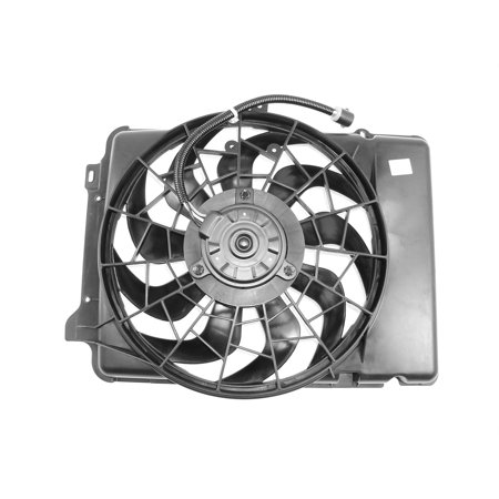 APDI 6018115 Dual Radiator and Condenser Fan Assembly for Ford Taurus