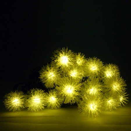 chuzzle ball solar christmas lights 48m 20led fairy decorative string lights for indoor and