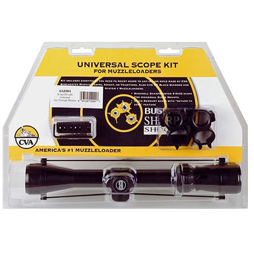 CVA Scope Kit w Medium Mounts Rings, 3-9x32mm Scope by CVA