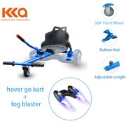 Blue Hover Go Kart, Buggy, Hoverboard Seat Attachment With Fog Blaster and LED Lights