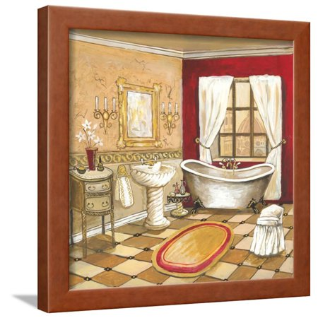 florentine bath red framed print wall art by gregory gorham. Black Bedroom Furniture Sets. Home Design Ideas