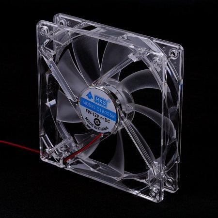 Professional Computer Fan Sleeve Bearing Technology Fans 4 LED Blue for Computer PC Case Cooling 120MM Transparent - image 6 de 7