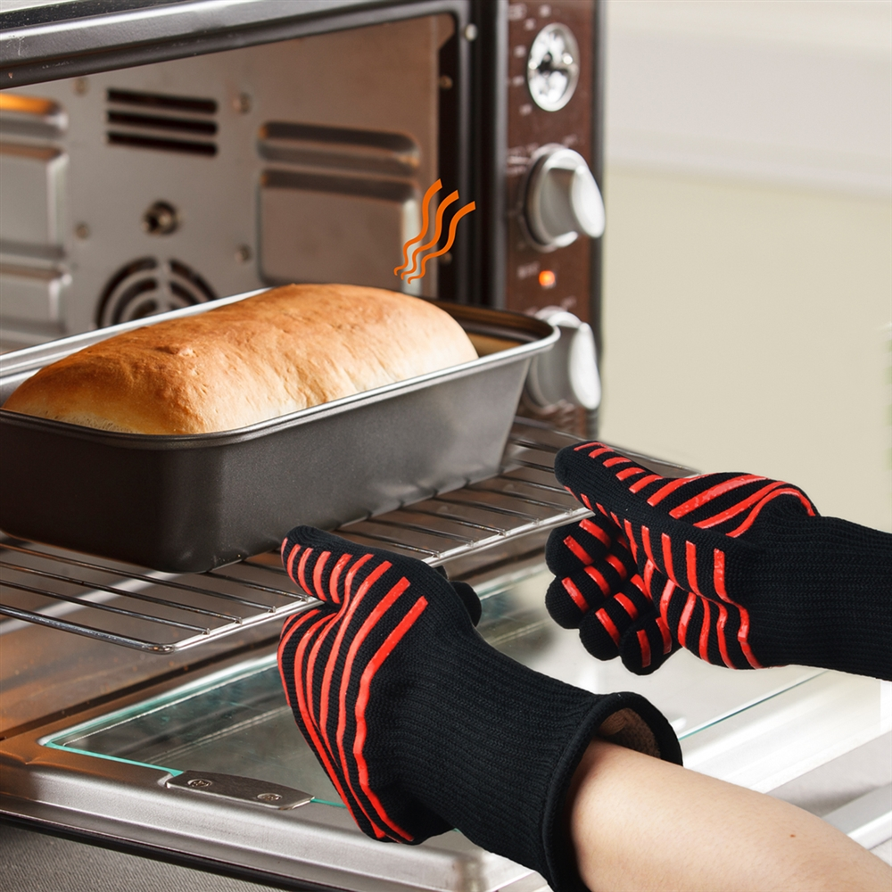 Flashmen BBQ Gloves, Extreme Heat Resistant Grill Gloves Anti-Slip Aramid Fiber Grilling Gloves 923?F Oven Gloves Mitts for Outdoor Cooking Oven BBQ Grill (1 Pair) - image 4 of 6